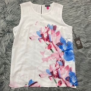 Vince Camuto Sleeveless Floral Blouse